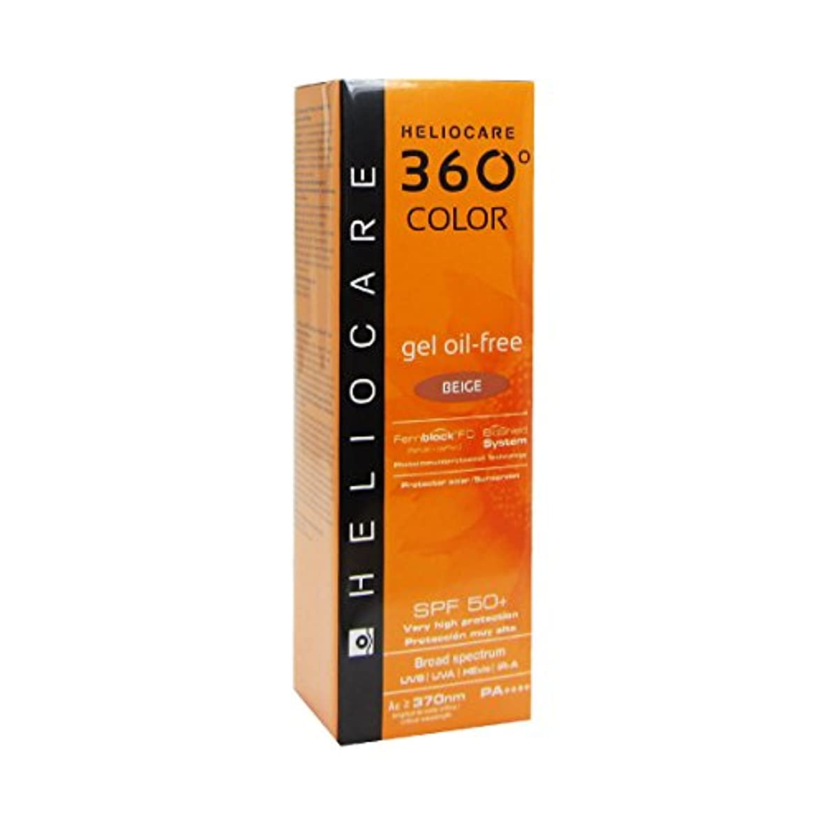 最少ポーズ以降Heliocare 360 Gel-color Oil-free Spf50 Beige 50ml [並行輸入品]