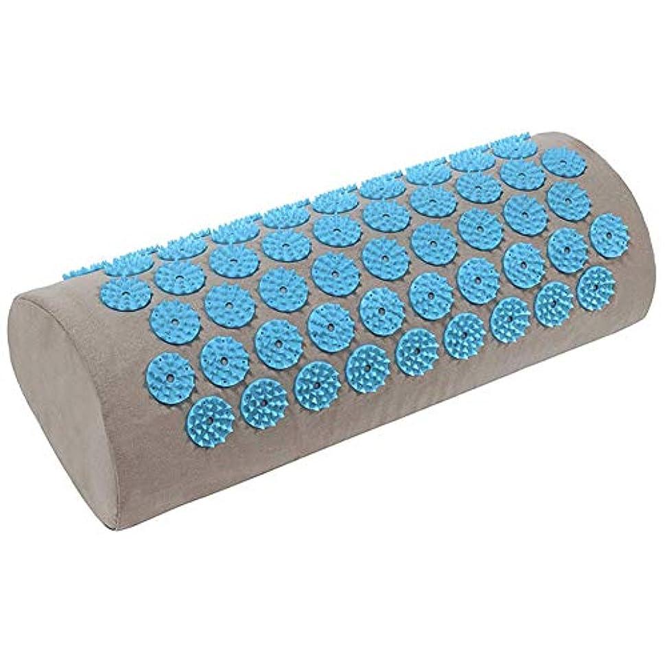 ミシン宴会ヨーロッパ鍼massageマッサージヨガマット、オリジナルの指圧枕、首と肩のマッサージ、健康なだめるようなマッサージクッションマッサージクッション,Grey