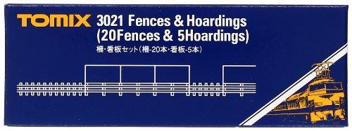Nゲージストラクチャー 柵・看板セット (柵‐20本、看板‐5枚) 3021