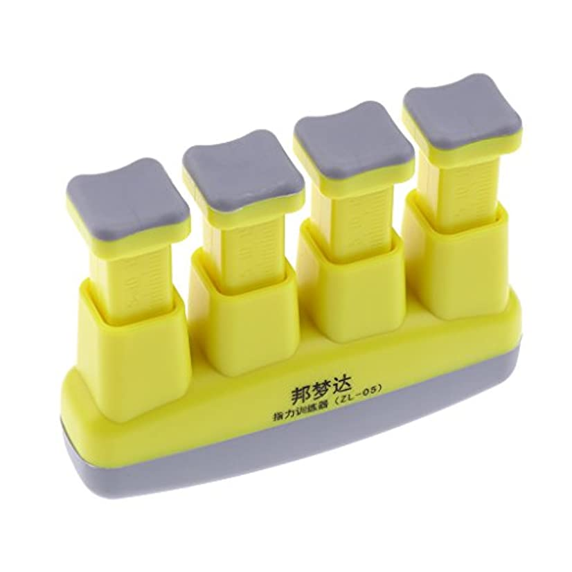 Fenteer ハンドグリップ エクササイザ 4-6ポンド 調節可 ハンドトレーニング グリッパー 黄色