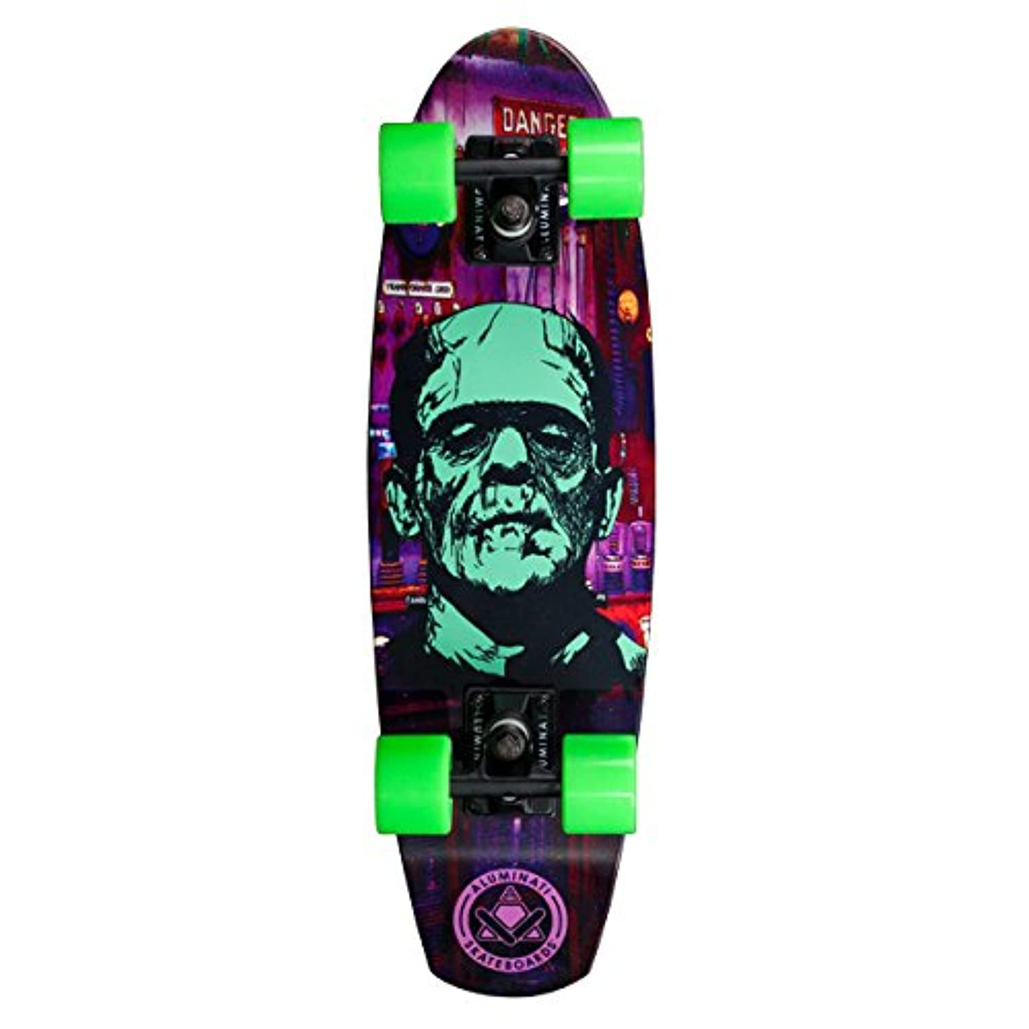Aluminati Skateboards A_Frame Franky Skateboard, Purple