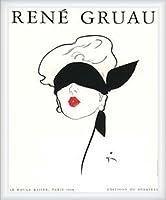 ポスター ルネ グリュオ Le Rouge Baiser、Paris 1948 額装品 ウッドハイグレードフレーム(ホワイト)