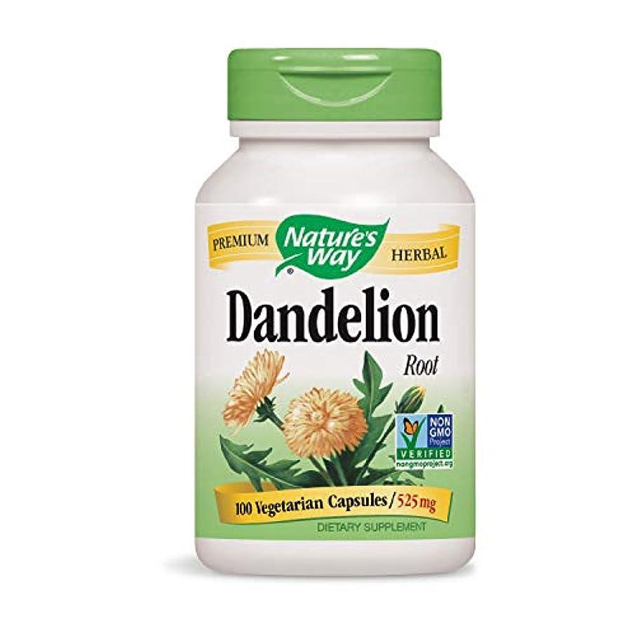 ワゴンからに変化する飾る海外直送品 Nature's Way Dandelion, Root 100 Caps