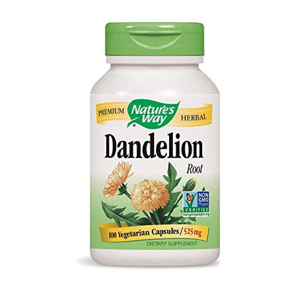 滴下空中さびた海外直送品 Nature's Way Dandelion, Root 100 Caps