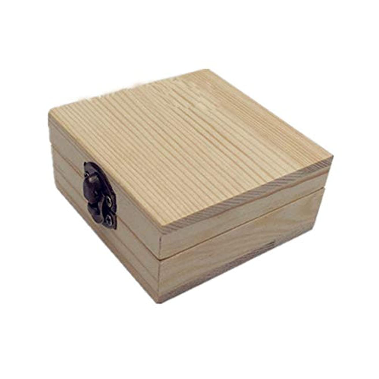 カウンタオセアニア広がり精油ケース 木製のエッセンシャルオイルボックスパーフェクトエッセンシャルオイルケースはエッセンシャル2本のボトル用保持します 携帯便利 (色 : Natural, サイズ : 7X7X3.5CM)
