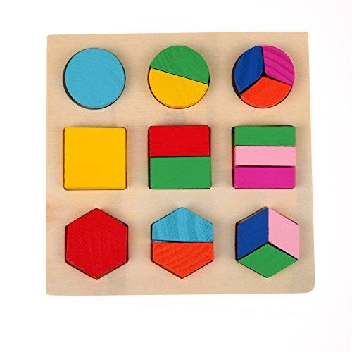 [해외]Domybest 어린이 장난감 나무 퍼즐 아기 소꿉 놀이 도형 기하 교육 완구 인식력 아동 어린이 유아 화려한/Domybest Child Toy Wooden Puzzle Baby League Geometric Educational Toy Recognition Children`s Kids Early Childhood Colorful