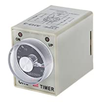 SODIAL(R)DC 12V 0-30秒30s 電気遅延タイマータイミングリレーDPDT 8Pとベース