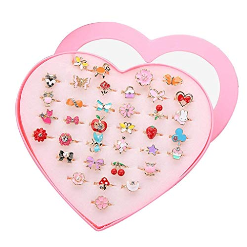 Formemory ペアリング 指輪セット 36個セット カップルリング かわいい おもちゃ 子供用 オープンリング フ...