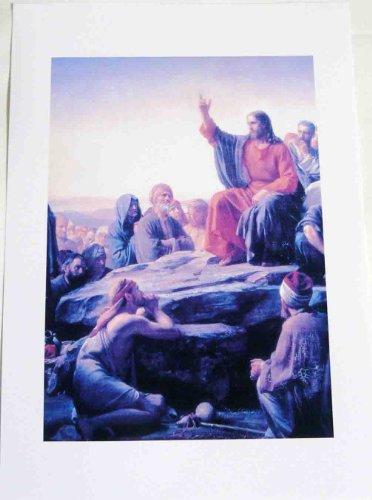 デンマークの西洋アンティック/道を解くキリスト絵画レプリカ大