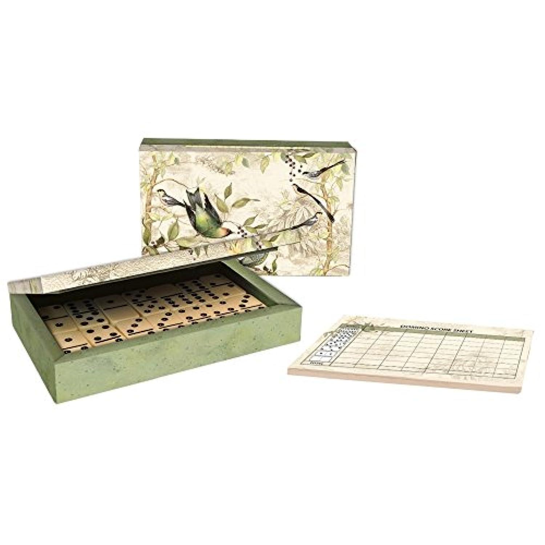 [ラング]LANG Domino Set Tropical Birds Art by Susan Winget 2184002 [並行輸入品]