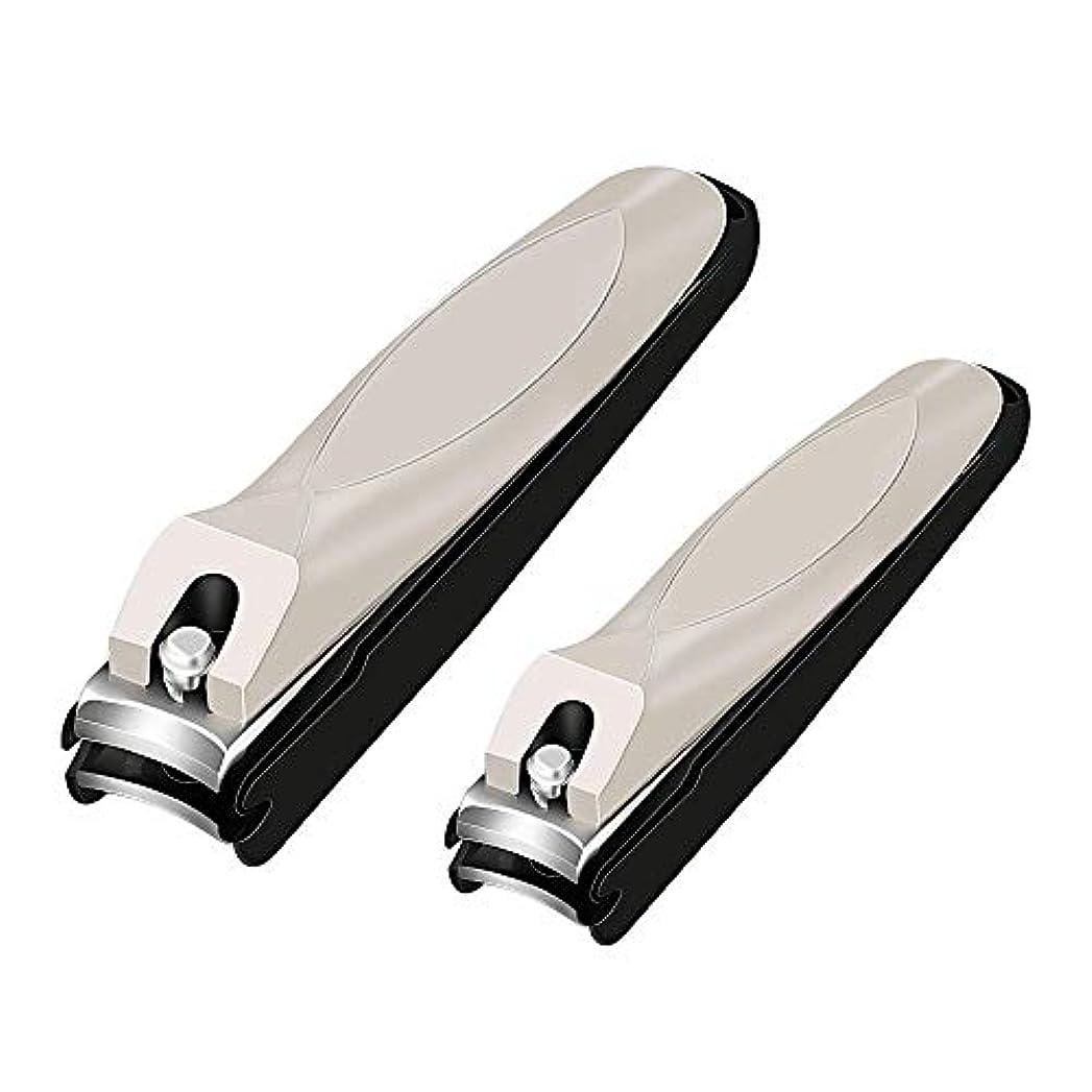 爪心配レプリカ爪切り ステンレス製切れ味抜群 長持ち飛び散り防止 カバー付き人にやさしいデザイン2本セット