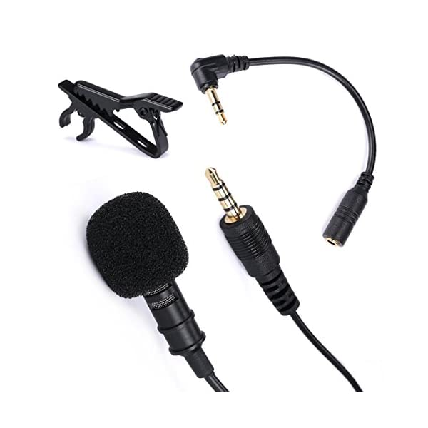 Lavalier Microphone, Gyvazla 3.5mm Lapel Clip-on Omnidirectional Condenser Microphone for iPhone & Android Smartphones or Any Other Mobile Device 5
