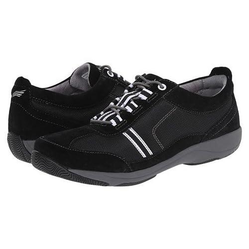 (ダンスコ)Dansko レディースウォーキングシューズ・カジュアルスニーカー・靴 Helen Black/White Suede US Women's 5.5-6 23-23.5cm Regular [並行輸入品]
