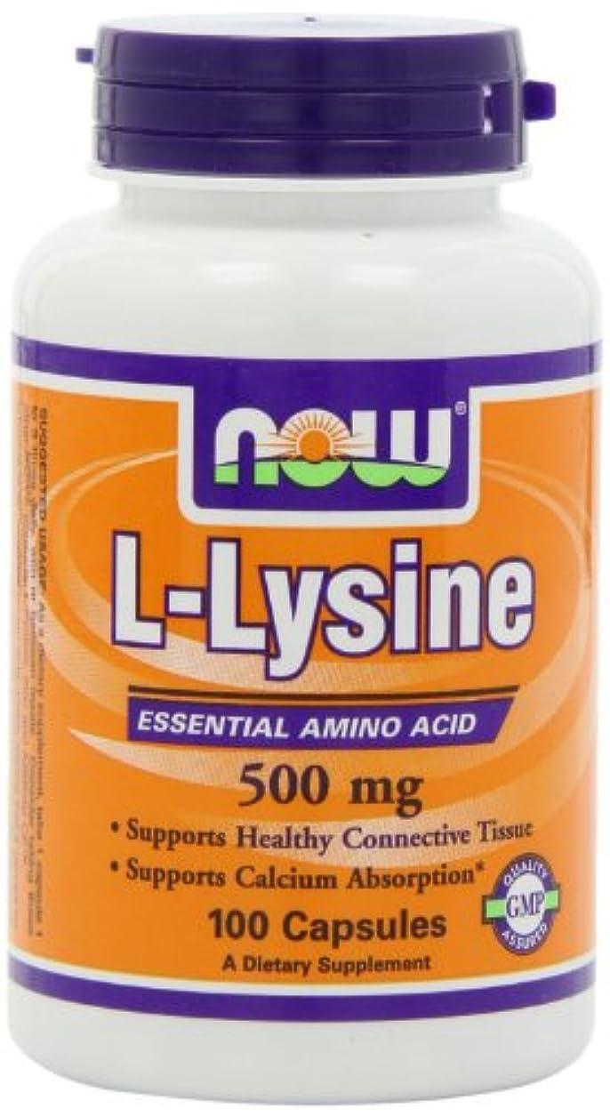 床そっとプランテーション[海外直送品] ナウフーズ  L-Lysine 500mg 100 Capsules (Pack of 3)