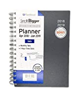 """PlanAhead See It Bigger Daily Planner 4月2018–2019–Assorted Colors 6"""" x 9"""""""