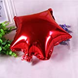 FidgetGear 5/10pcs 10'' Five-pointed Star Helium Foil Balloon Party Wedding Birthday Decor Red 5pcs
