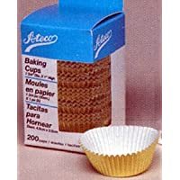 Ateco Baking Cups - Gold Foil - Small - 200 by Ateco