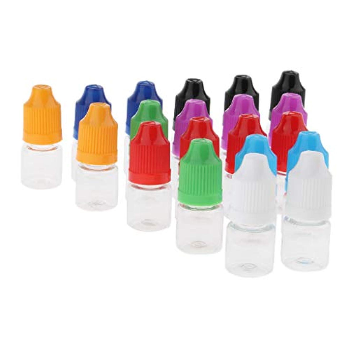博覧会賃金活発約20個 香水ボトル ドロッパー付き メイクアップボトル 旅行 小分け容器 2サイズ選べ - 3ミリリットル