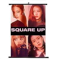 Hippyt KPOP 韓流 BTS 防弹少年団 「SQUARE UP」 スクロールポスター 写真 ポスター 応援グッズ A4サイズ 混紡布 かわいい 二点セット H01