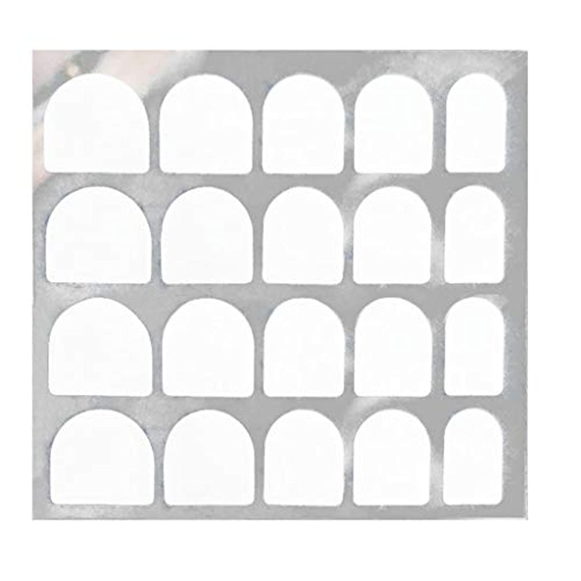 貫通学期縞模様のLazayyii 両面偽ネイルアート粘着テープのりステッカーDIY 5枚/ 24枚 (C)