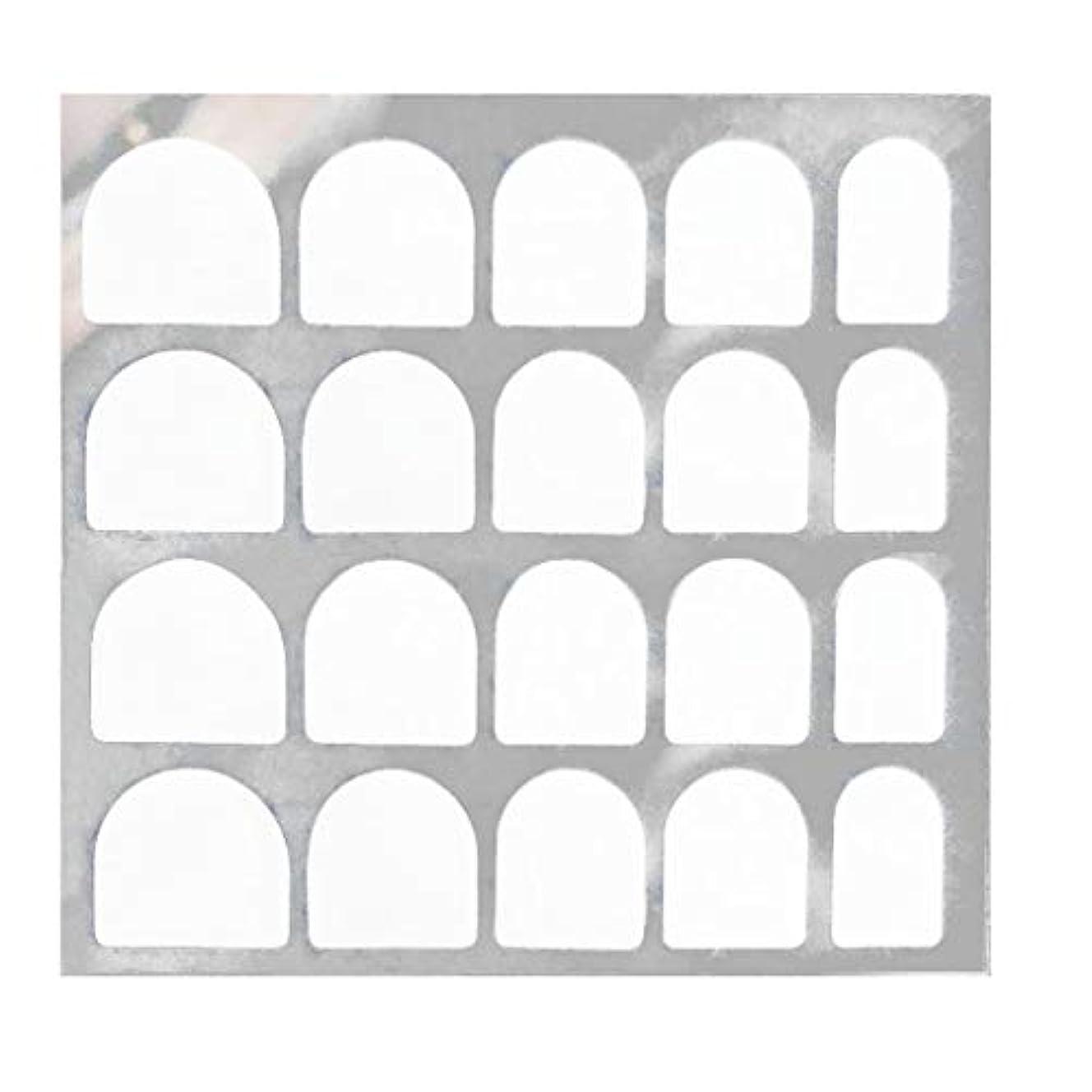 隙間プランテーションがっかりするLazayyii 両面偽ネイルアート粘着テープのりステッカーDIY 5枚/ 24枚 (C)