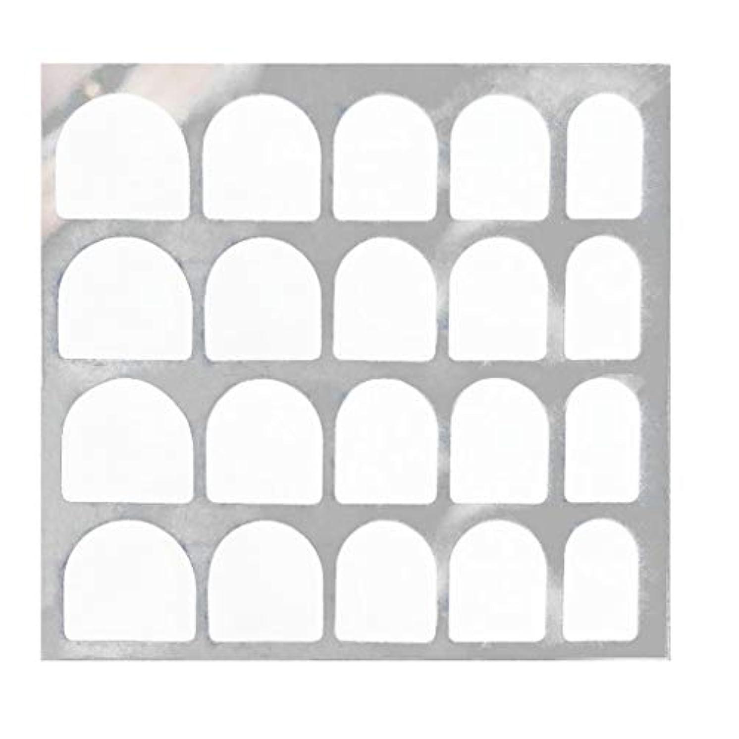 思春期の床を掃除する該当するLazayyii 両面偽ネイルアート粘着テープのりステッカーDIY 5枚/ 24枚 (C)