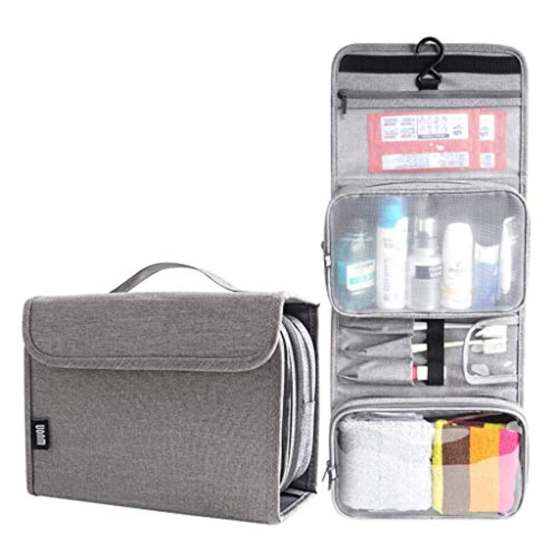 別にコテージ論争の的洗濯袋、携帯用化粧品袋、屋外の大容量男性と女性の旅行収納仕上げバッグ、トラベルグッズバッグ - L 22.5 * 10 * 17 cm(カラー:グレー)