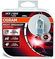 OSRAM 64210NBU-HCB Night Breaker Unlimited H7, Halogen Headlamp, 12V Passenger Car, Duo Box, Set of 2
