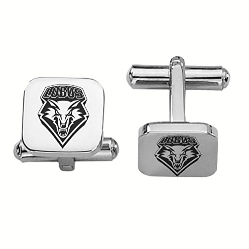New Mexico LobosステンレススチールSquare Cufflinks