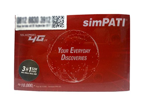 インドネシア SIMカード TELKOMSEL simPATI 3G 4G LTE アクティベーション簡単!!電話 SMS データ通信可能