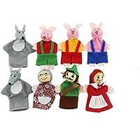 naissant 童話 赤ずきん & 三匹のこぶた 指人形 セット