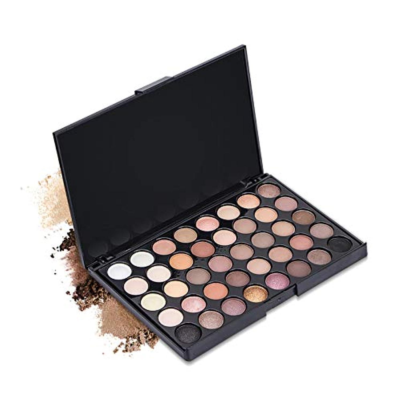 に頼るフランクワースリー不一致40 Colors Eye Makeup Earth Pearl Shimmer Nudes Palette Matte Eyeshadow Pallete Glitter Powder Eye Shadows Cosmetic...