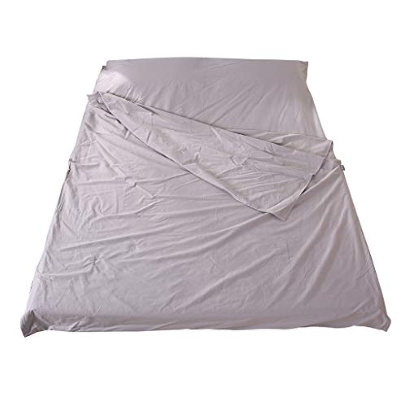宣教師ミトン神聖PETSOLA 旅行寝袋 綿シュラフ 隔断シーツ コンパクト 汚れ防止 キャンプ グレー 3サイズ