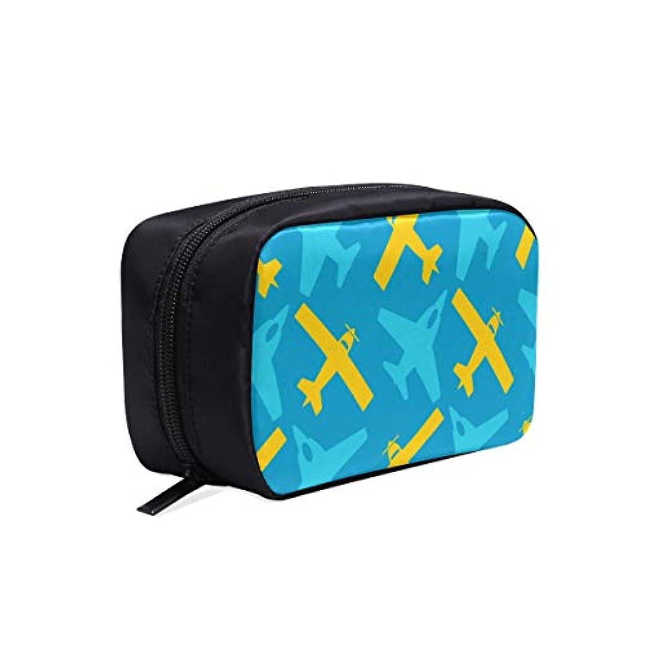 起きる南方の撃退するDMHYJ メイクポーチ 可愛い飛行機 ボックス コスメ収納 化粧品収納ケース 大容量 収納 化粧品入れ 化粧バッグ 旅行用 メイクブラシバッグ 化粧箱 持ち運び便利 プロ用