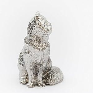 ネコ(猫)(座り姿) イギリス製 アニマル アート フィギュア コレクション