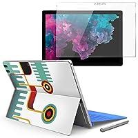 Surface pro6 pro2017 pro4 専用スキンシール ガラスフィルム セット 液晶保護 フィルム ステッカー アクセサリー 保護 ユニーク カラフル デザイン 005862