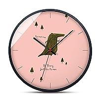 カラフルな素敵なダチョウの壁時計現代の世帯ごとのリビングルームミュート壁時計、