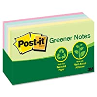 "Wholesale CASE of 15 – 3 M Post - it Sunwashed Pier Greenerリサイクルnotes-post-itノート、リサイクル、3 "" x5、"" 5 / PK, Assortedパステル"