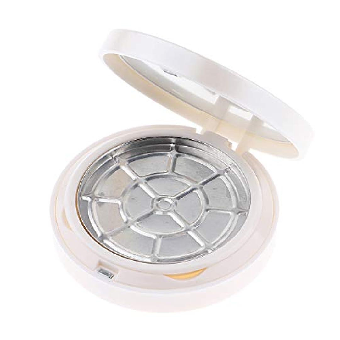 道を作る一目利用可能F Fityle パウダーケース 化粧鏡 2層 空ケース 2色選べ - 白