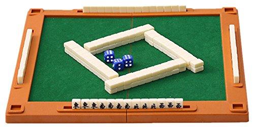 [해외]WONZOM 마작 케이스 마작 매트 마작 세트 마작 미니 여행용 가정용 접이식 휴대 입문용 초보자/WONZOM Mahjong tile case Mahjong mat Mahjong set Mahjong mini size Travel home for folding Portable beginner