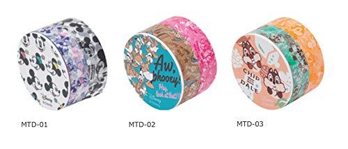 ニチバン マスキングテープ ディズニーキャラクター 3種類 MTD-01/-02/-03 3個組み