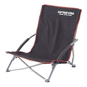 キャプテンスタッグ キャンプ用品 椅子 チェア ジュール ロースタイル イージー ブラックUC-1700