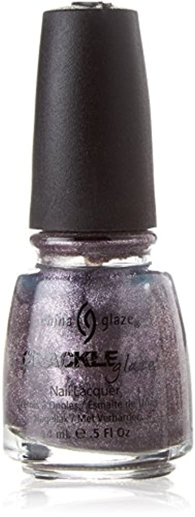 塗抹ある浜辺CHINA GLAZE Crackle Metals Latticed Lilac (並行輸入品)