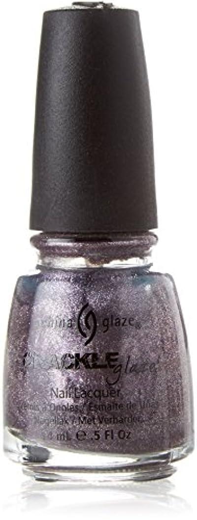 学部長シリーズレンチCHINA GLAZE Crackle Metals Latticed Lilac (並行輸入品)