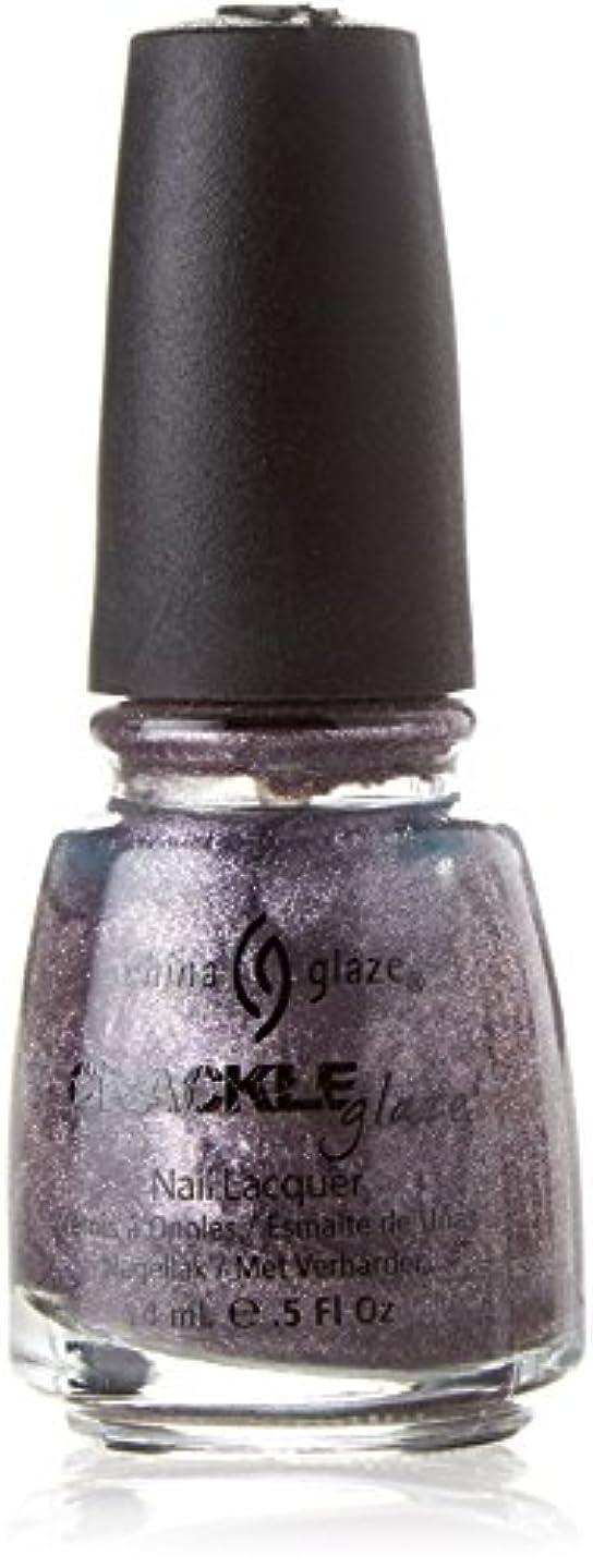 冷淡な可聴言い直すCHINA GLAZE Crackle Metals Latticed Lilac (並行輸入品)