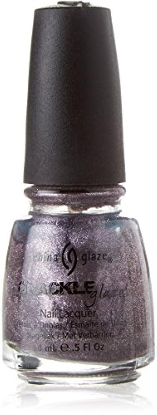 世代丁寧胸CHINA GLAZE Crackle Metals Latticed Lilac (並行輸入品)
