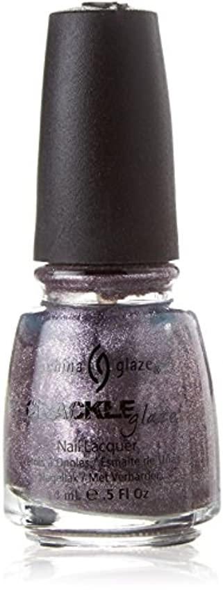 現実的意気消沈した適度にCHINA GLAZE Crackle Metals Latticed Lilac (並行輸入品)