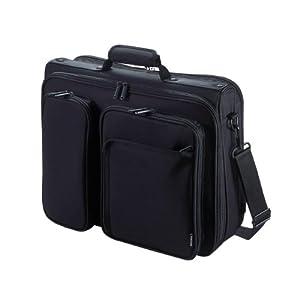 エレコム ビジネスバッグ キャリングバッグ A4対応 15.4インチワイド クラムシェルタイプ ブラック BM-SA04BK