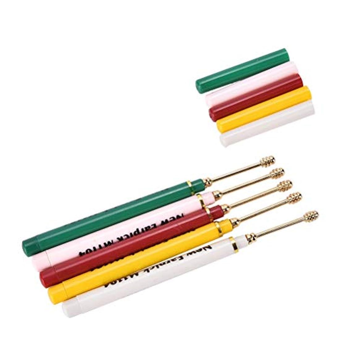 ラブ有能なスリップZHQI-GH 1ピースキュレットスクリューリムーバースティッククリーナーピック耳ツールワックス耳かきヘルスケアツールアクセサリーランダムカラー 17 (色 : Multi-colored)