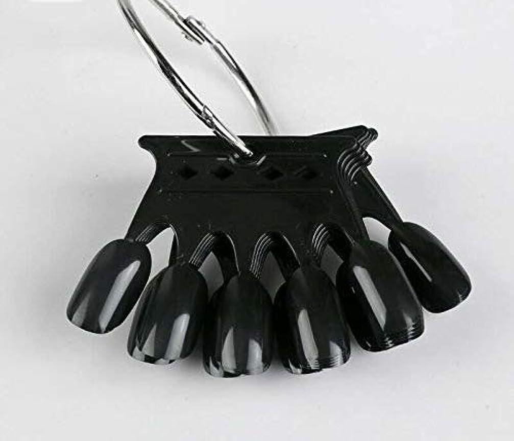 囲い壊す率直な10pcs Black Crown Shaped Nail Art Display Tips False Nail Tips Fake Palette Acrylic UV Gel Polish Manicure Practice Training Tools